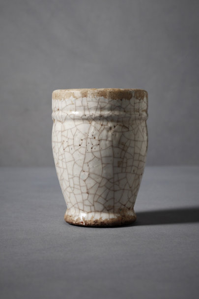White Crackled Terracotta Pots | BHLDN