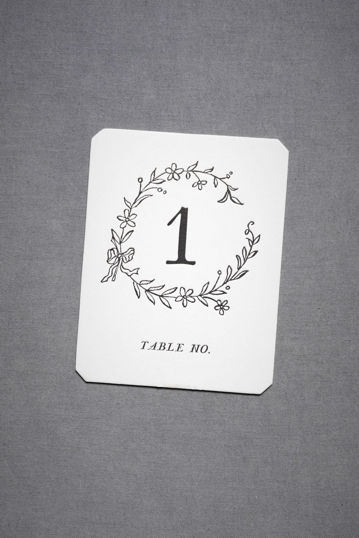 Hollyhock Table Cards (1-15/16-20)