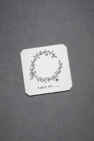 Hollyhock Place Cards (10)