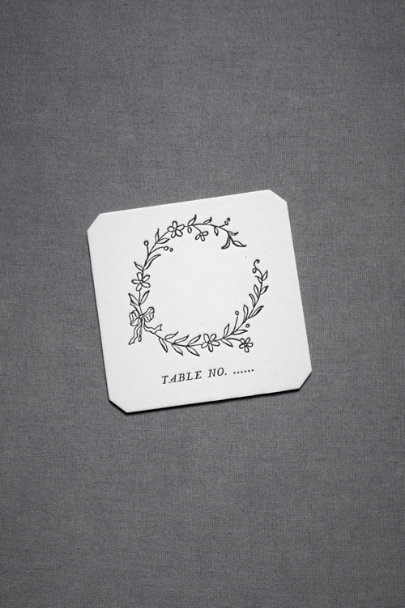 Black Hollyhock Place Cards (10) | BHLDN