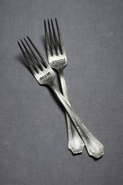 Silver Sweethearts' Forks | BHLDN