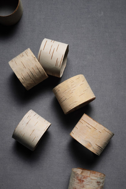 Natural Split Birch Napkin Rings (10) | BHLDN
