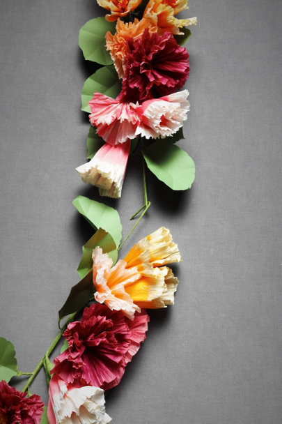 Papered Posy Ceremony Garland