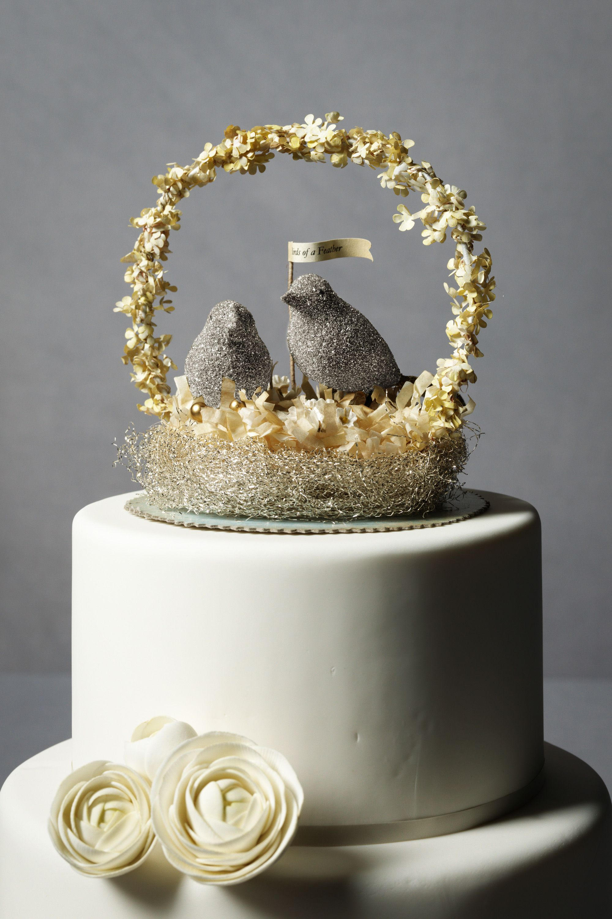 Birds Of A Feather Cake Topper