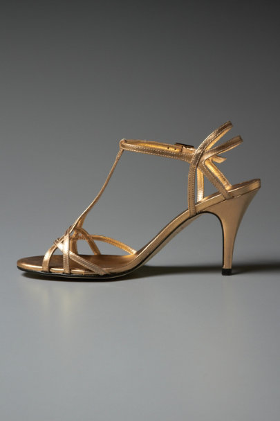 KLUB NICO Gold Plaited Gold Heels | BHLDN