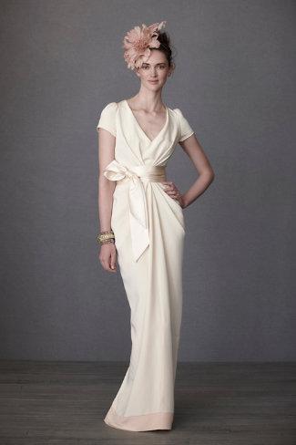 Crepe De Chine Column Gown