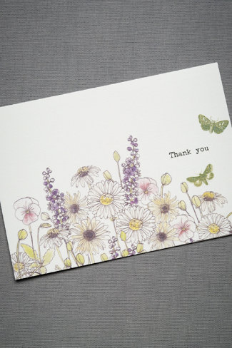 Green Garden Thank You Cards (10)