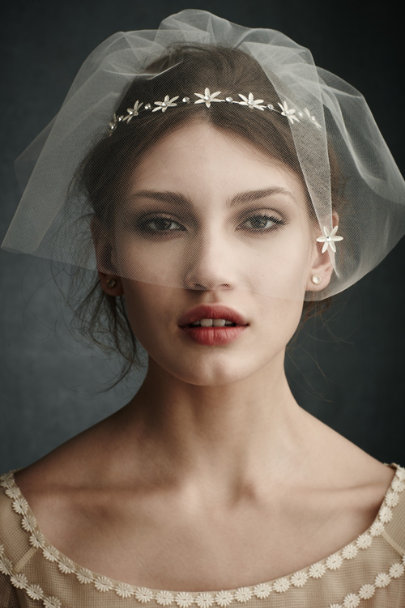 Debra Moreland Ivory North Star Blusher Veil | BHLDN