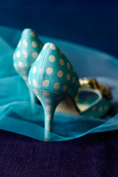 Turquoise Polka-Dot d'Orsays | BHLDN