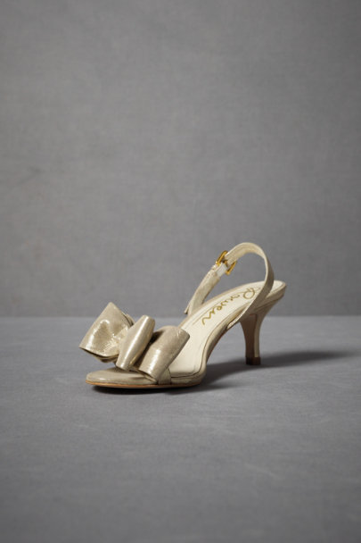 Gold Iridescent Slingbacks | BHLDN