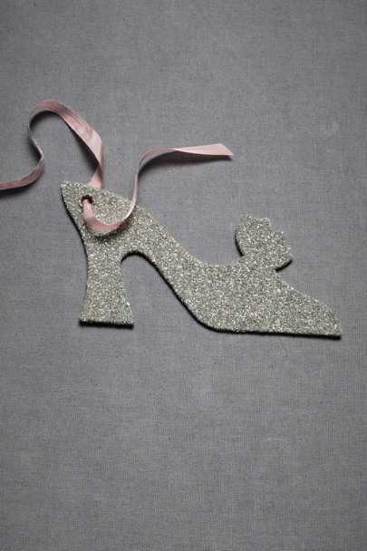 Silver Glittered Louis Heel Tags (4) | BHLDN