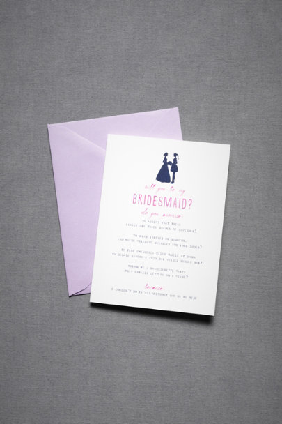 Navy Bridesmaid Silhouette Card | BHLDN