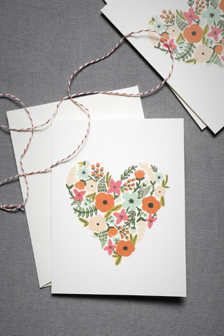 Landscaped Heart Cards (8)
