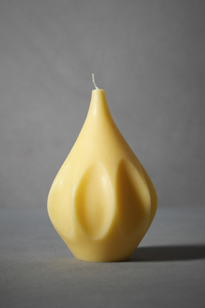 jordi labanda Cream Sculpted Vase Candle, Andalusia | BHLDN