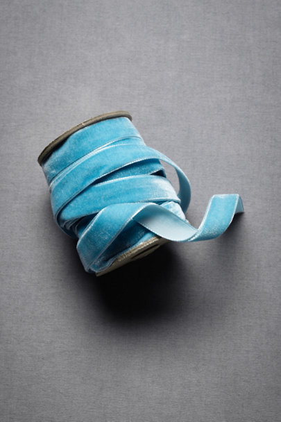 Light Blue Velvet Ribbon | BHLDN