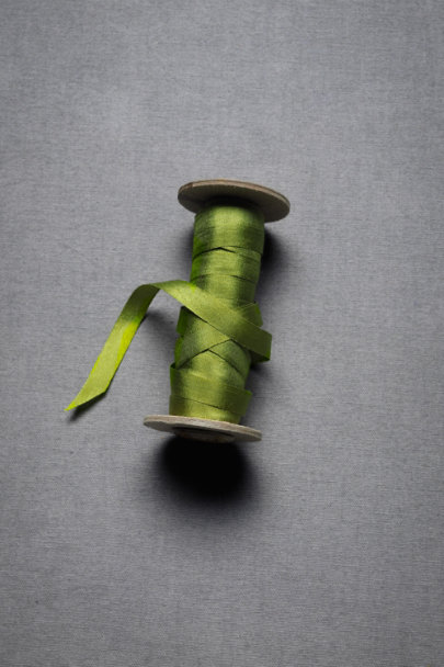 Olive Green Silk Ribbon | BHLDN