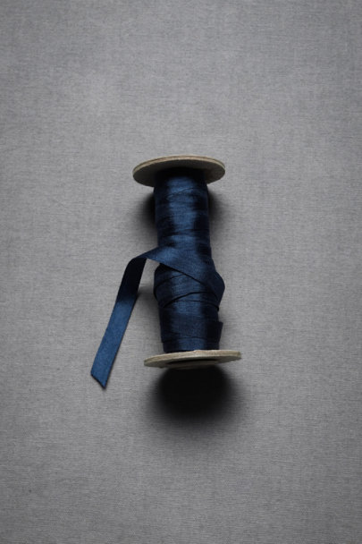 Deep Blue Silk Ribbon | BHLDN