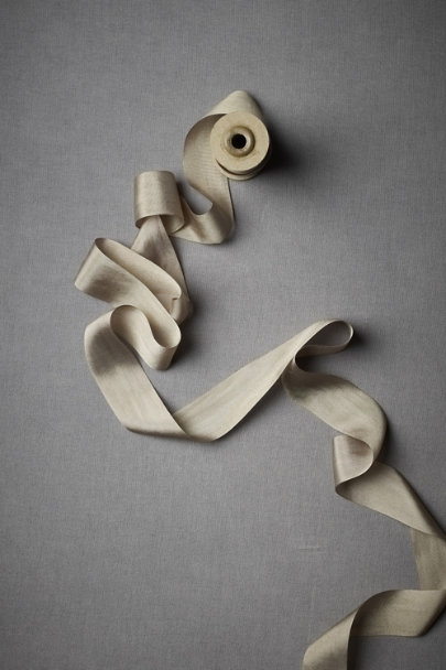 Taupe Silk Ribbon | BHLDN