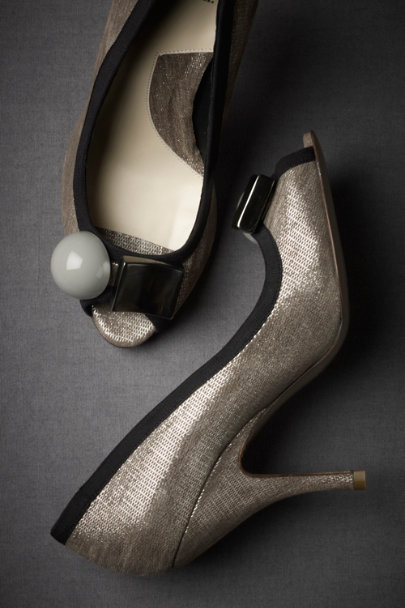 Silver Cubist Peep-Toes | BHLDN