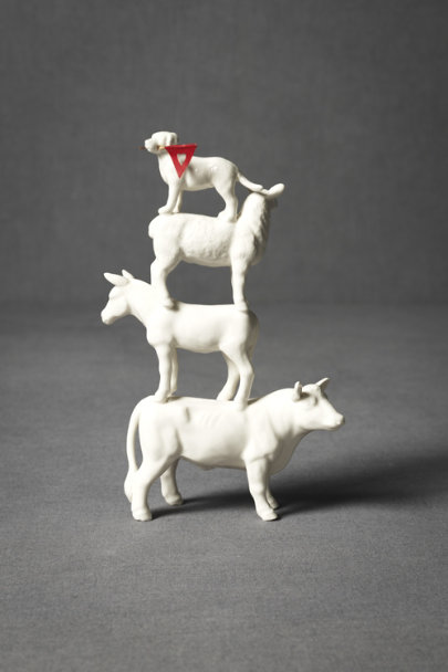 White Four-Footed-Fete Cake Topper | BHLDN