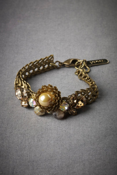 Bronze Baroque Geometry Bracelet | BHLDN