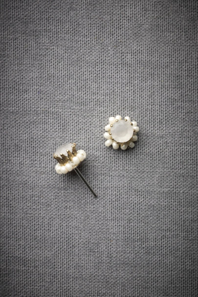 Clear Smallest Cloudbank Earrings | BHLDN