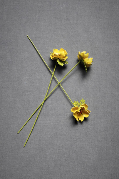 Yellow Studded Primrose Cake Pins (3) | BHLDN