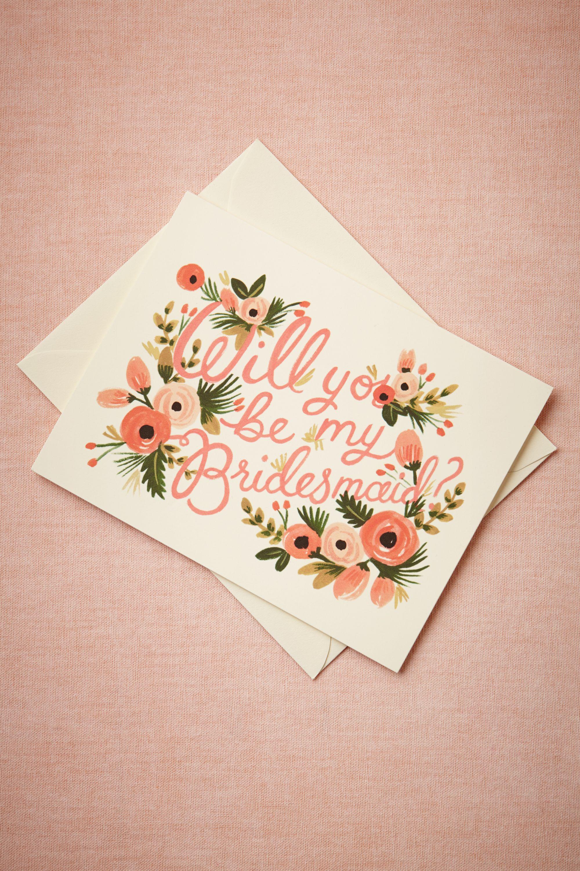 Blooming Bridesmaid Card
