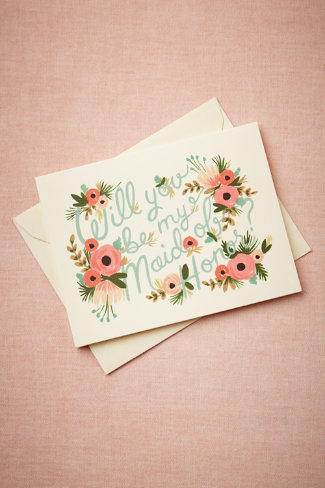 Blooming Maid of Honor Card