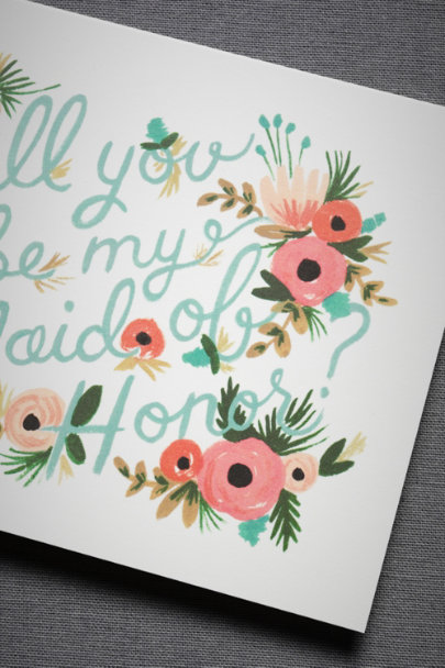 Rifle Paper Co. Maid of Honor Blooming Maid of Honor Card | BHLDN
