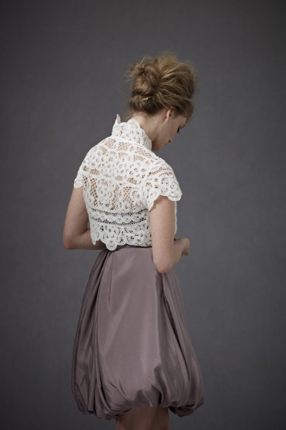 Harrison Morgan White Reverse Shell Bolero | BHLDN