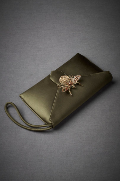 Olive Firefly Clutch | BHLDN