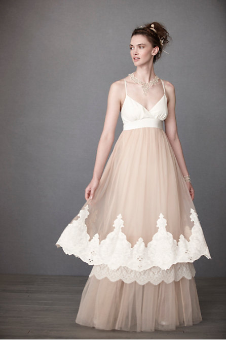 Blushing Crinoline Sheath