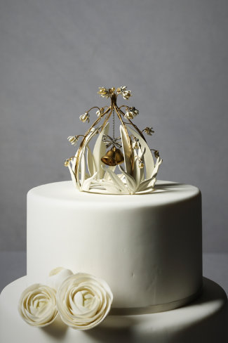 Crystal Cloche Cake Topper