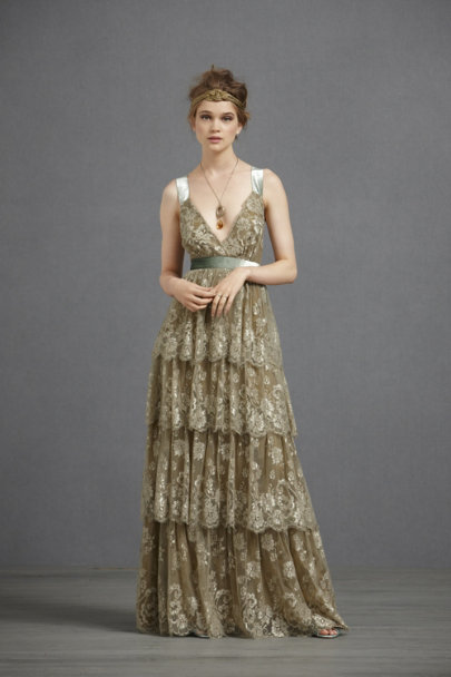 Nude/Mint Combo Ophelia Dress | BHLDN