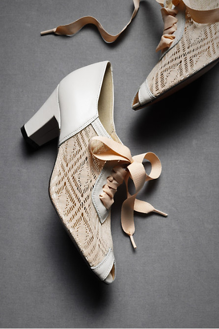Deco Lace-Ups in  SHOP Attire Shoes at BHLDN :  vintageinspired leather soles heels dance