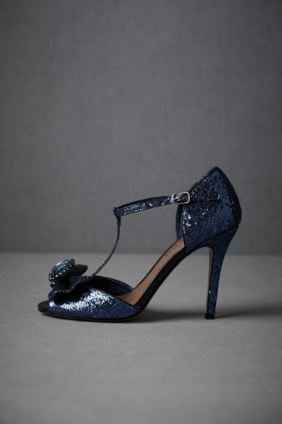 Blue Sun-Glinted Peep-Toes | BHLDN