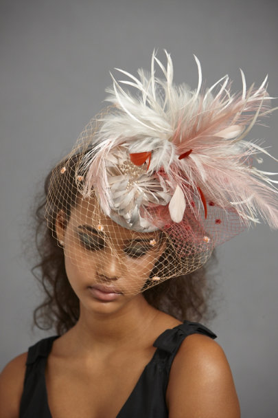 Red Motif Plume Flare Hat | BHLDN