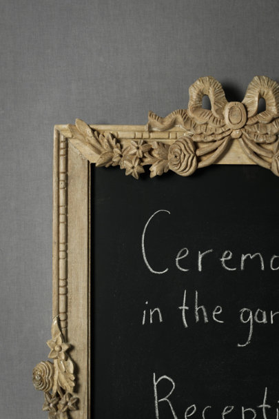 Natural/Black Festive Garland Chalkboard | BHLDN