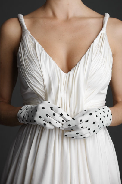 Black Motif Ebony-Flecked Gloves | BHLDN