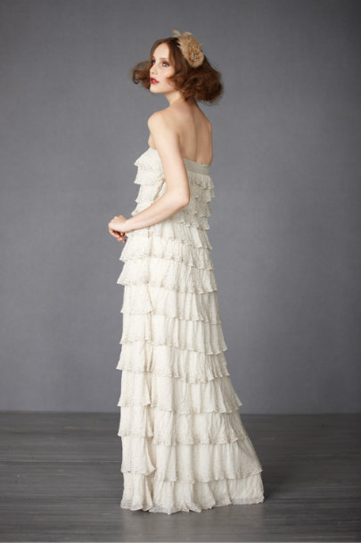 Ivory Pointillist Gown | BHLDN