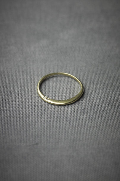 Nora Kogan Yellow Gold Couplet Band | BHLDN