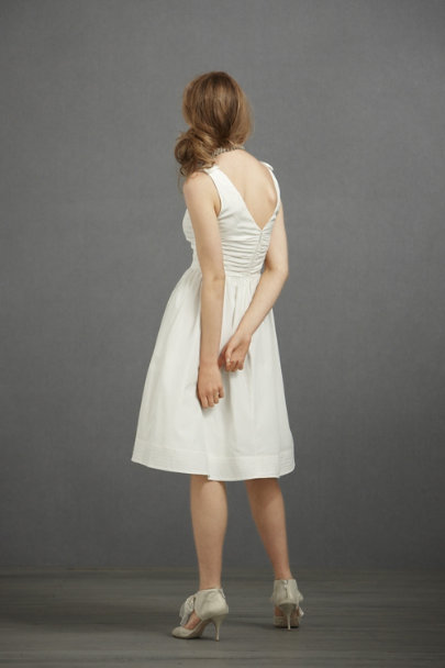 Ivory Beribboned Dress | BHLDN