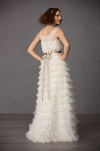 Ivory Tulle Tiers Skirt | BHLDN