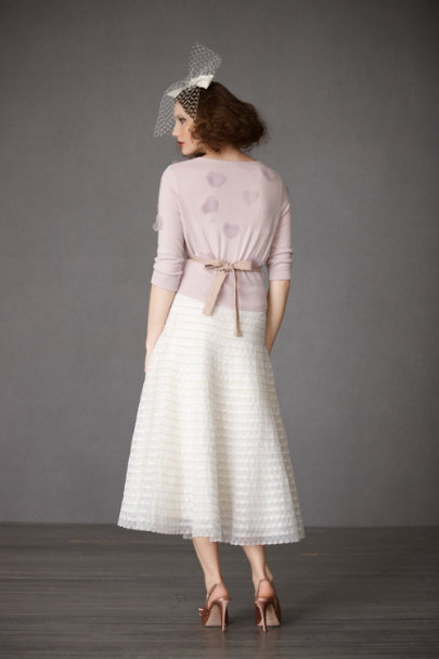 Ivory Cockle Shell Skirt | BHLDN