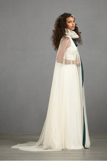 Conspicuous Cape in  SHOP Attire Cover-Ups at BHLDN :  bridal veil wedding high neck