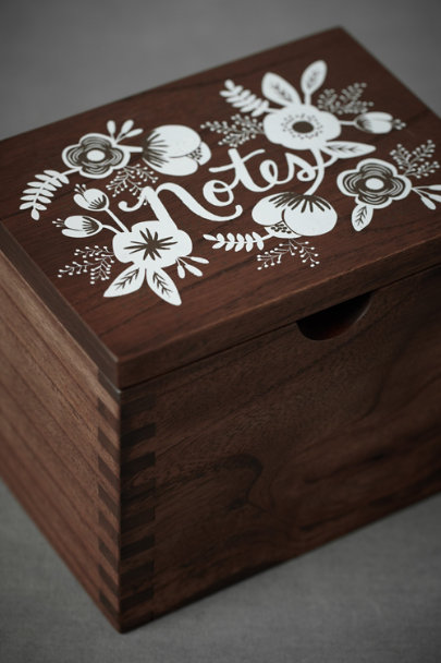 Brown Loving Sentiments Note Box | BHLDN