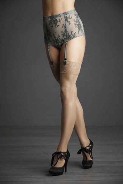 Golden Shimmering Thigh Highs | BHLDN