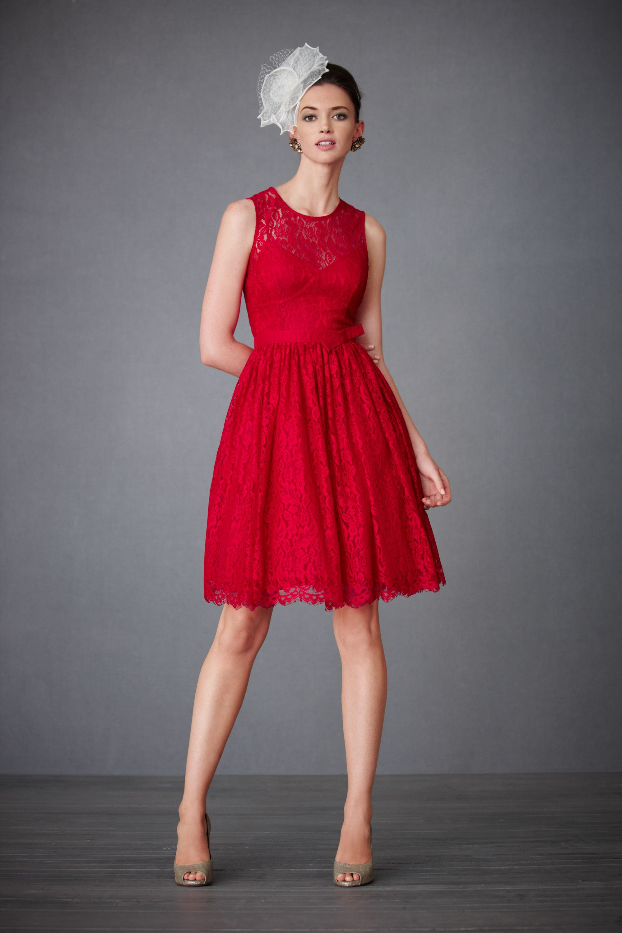 Crimson Lace Dress