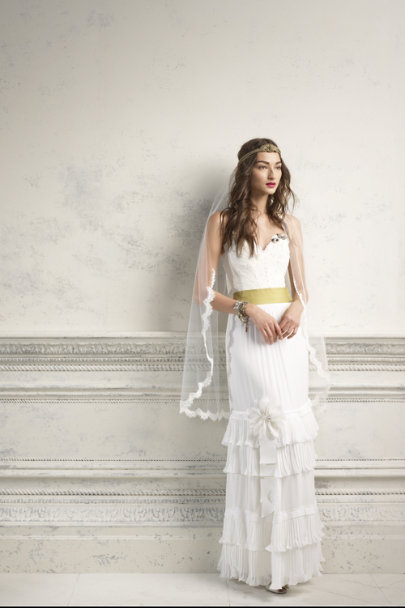 Jennifer Behr Gold Siren's Song Halo | BHLDN